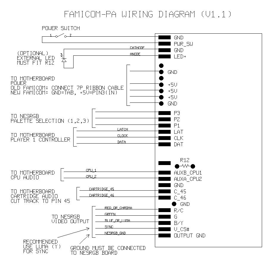 Installation Guide For Nesrgb Into A Famicom Original Cpu Connector Wiring Diagram