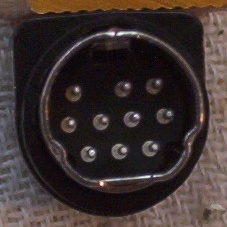 Mini-DIN 10p line plug