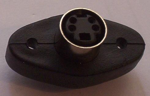 Mini-DIN 4p panel socket