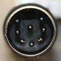 DIN 8p horseshoe line plug
