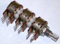 10k, 6 gang, linear potentiometer